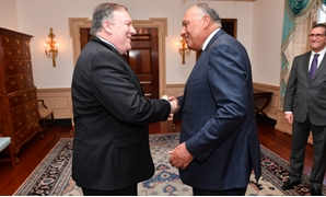 US Secretary of State Mike Pompeo (L) and Egyptian Foreign Minister Sameh Shoukry (R) - Source: US embassy in Egypt