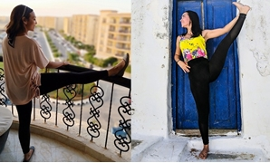 Yoga teachers Aia Faham (right) and Shiam Badr (left)
