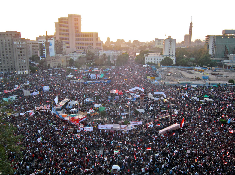 Tahrir Square on January 25, 2011. Photo credit: Wikimedia.