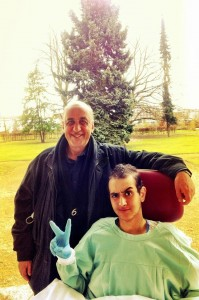 Hisham with his father in Germany