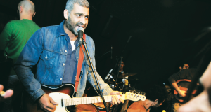 Wust El-Balad perform at Cairo Jazz Club in February 2015.