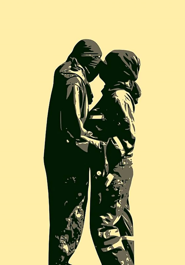 """1. By Teneen, """"Huntkabl"""" (We Will Meet). digital art. This was the only Egyptian artwork that participated in street artist Banksy's Dismaland, a temporary art project constructed in Weston-super-Mare in Somerset, England."""