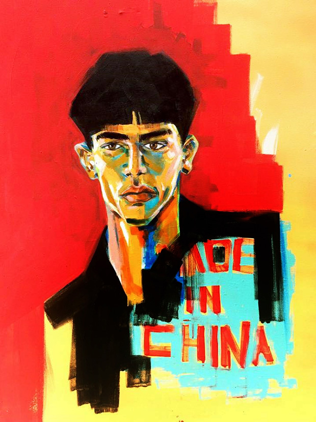"""7. By Aya Tarek, """"Made in China,"""" acrylic. A contemporary portrait set to feature in an exhibit in China."""