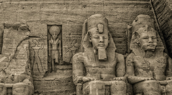 The Great Temple at Abu Simbel. (Photo by Nigel Fletcher-Jones)