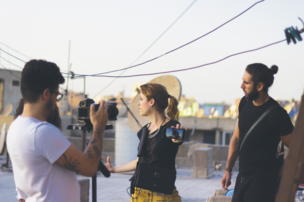 Shooting the Cairokee video (photo by @somewhereincairo)