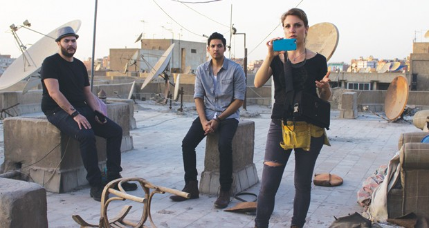 ATW80 shooting Cairokee's video on the rooftops of Cairo (photo by @somewhereincairo)