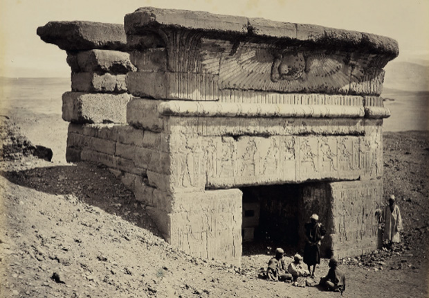 The Temple of Hathor, Dendera, by Francis Bedford, 19 March 1862. From Gordon & El Hage, Cities, Citadels, and Sights of the Near East, AUC Press. (Courtesy of HM Queen Elizabeth II)