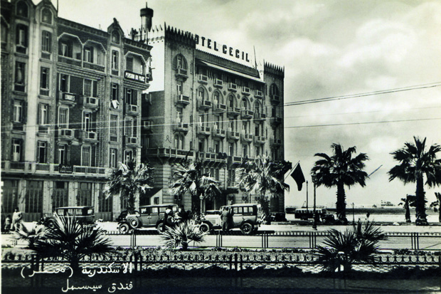 The Hotel Cecil, Alexandria, in the 1930s. From Humphreys, Grand Hotels of Egypt, AUC Press. (Courtesy of Mohamed El Mekabbaty)