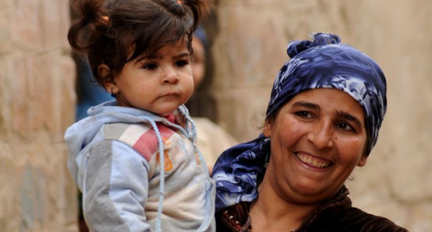 A mother and daughter in Deir Al-Maymun, a predominately Coptic village in Beni Suef.