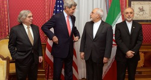 John Kerry and Mohamad Javad Zarif, ministers of foreign affairs of the US and Iran, meet in Lausanne in March for nuclear talks.