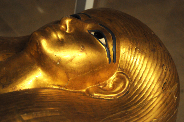 The funerary mask of Queen Nefertiti.