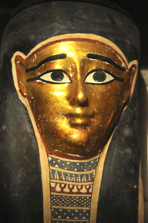 The funerary mask of Nekhet-iset from the Late Period.
