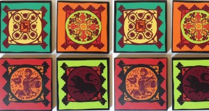 Coasters from Frog are inspired by Egyptian and Coptic elements.
