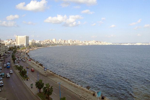 Alexandria's corniche holds memories of vacations past for many Egyptians.