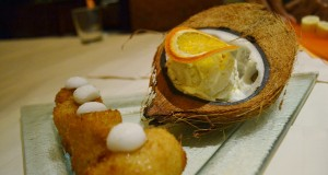 The Kloy Tod, or fried banana in coconut milk with vanilla ice cream, will make you forget any chocolate cravings.