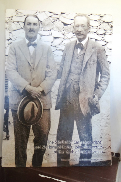 An original photo of Carter (left) with the 5th Earl of Canarvon, joint discoverers of the tomb of Tutankhamun.