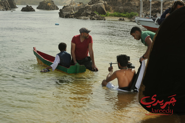 On location during the filming of Jareedy.