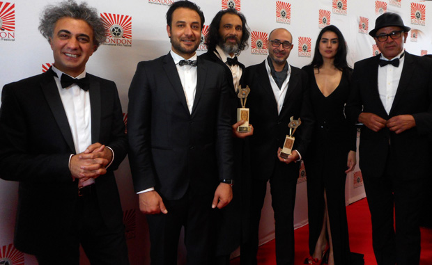 Mohamed Hisham, third from right, at the International Filmmaker Festival of World Cinema in London.