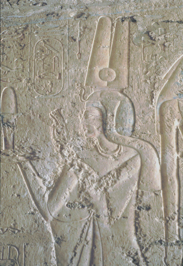 Queen Tawosret, as shown in her tomb in the Valley of the Kings.