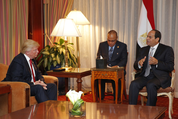 Trump meeting with Sisi.