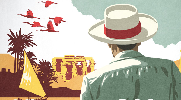 detail from On the Nile, by Andrew Humphreys