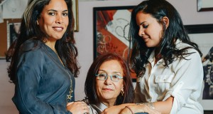 From left: Fatma Ghali, Azza Fahmy and Amina Ghali.